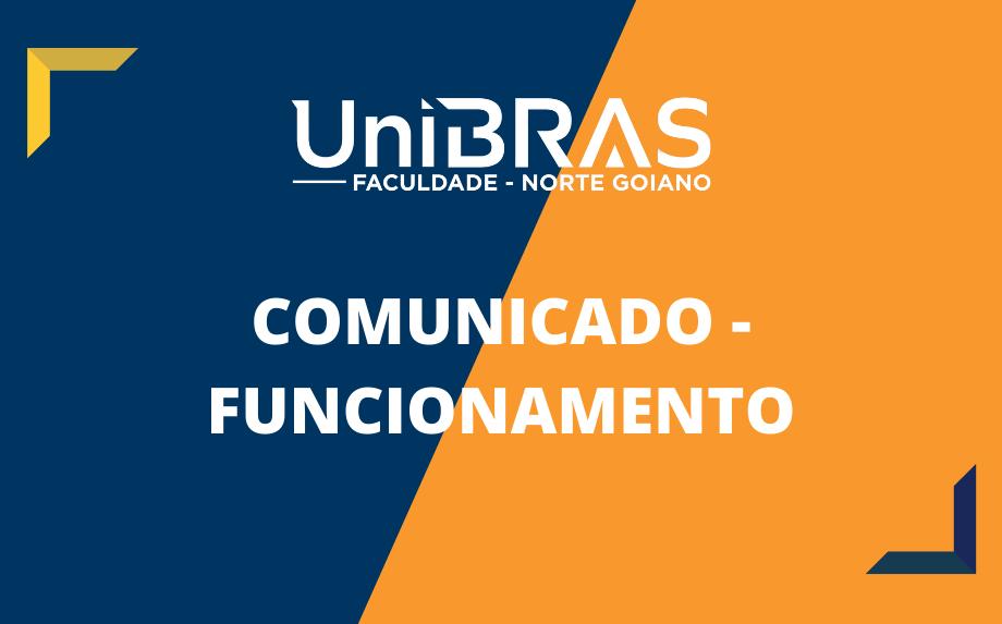 COMUNICADO DE RESTRIÇÃO DE FUNCIONAMENTO